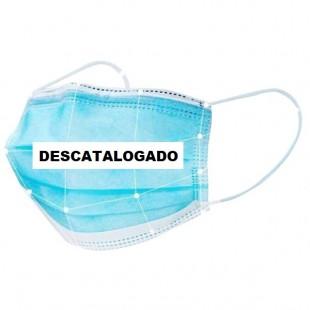 PACK 50 MASCARILLAS PROTECCIÓN DESECHABLE 3 CAPAS