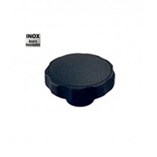 POMO CON CASQUILLO INOXIDABLE D-40 M-6 NEGRO (CL)