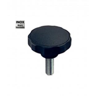 POMO C/ESPIGA INOXIDABLE D-40 M-6X38 NEGRO (CXXV)